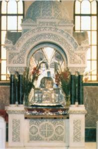 Το μαρτυρικό Κουβούκλιο με την Αγία Κάρα.